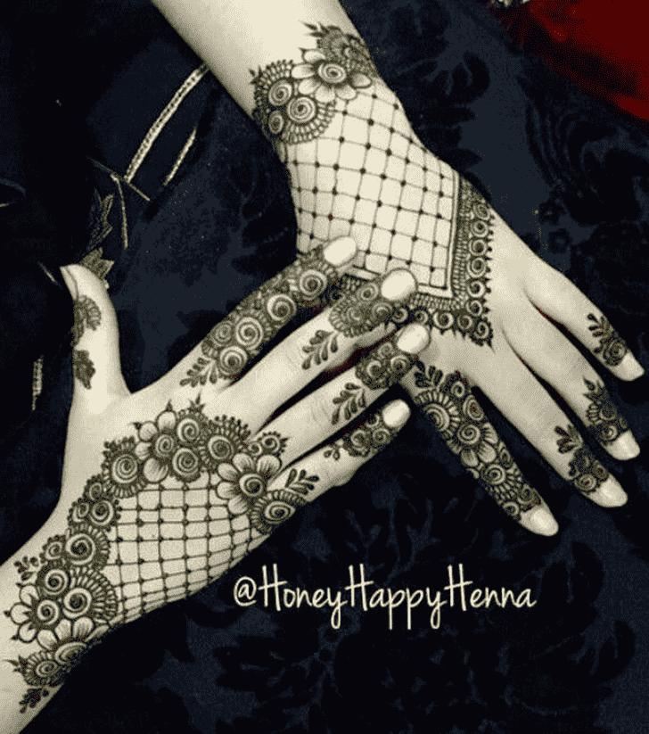 Appealing Leaf Henna Design