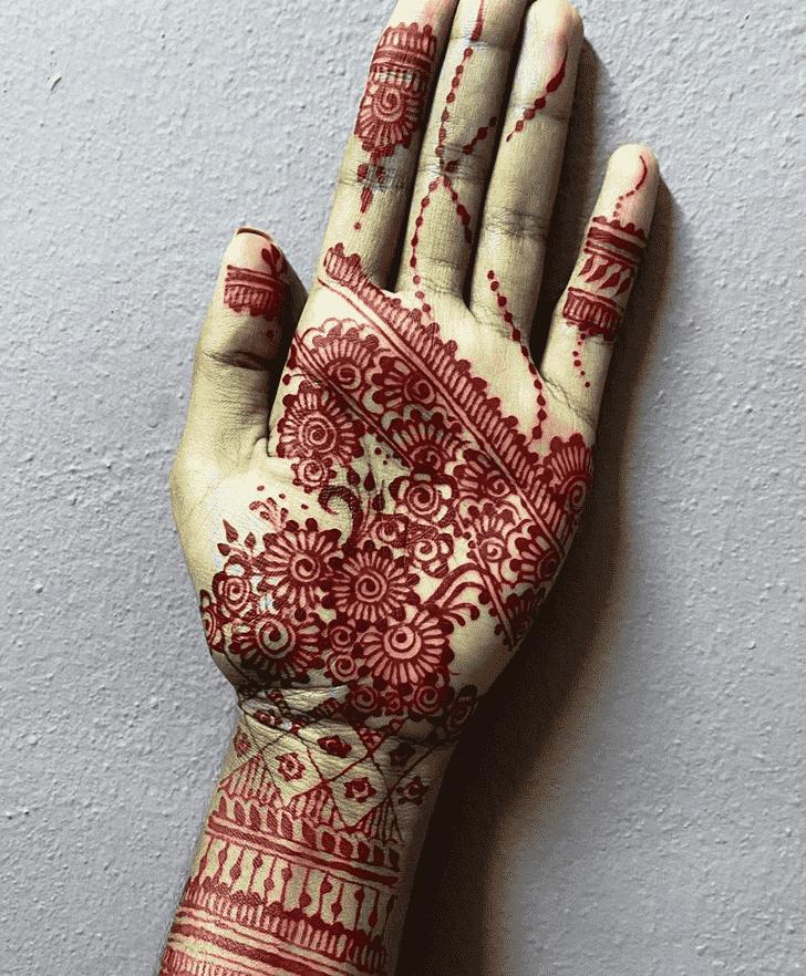 Charming Handing Left Hand Henna design