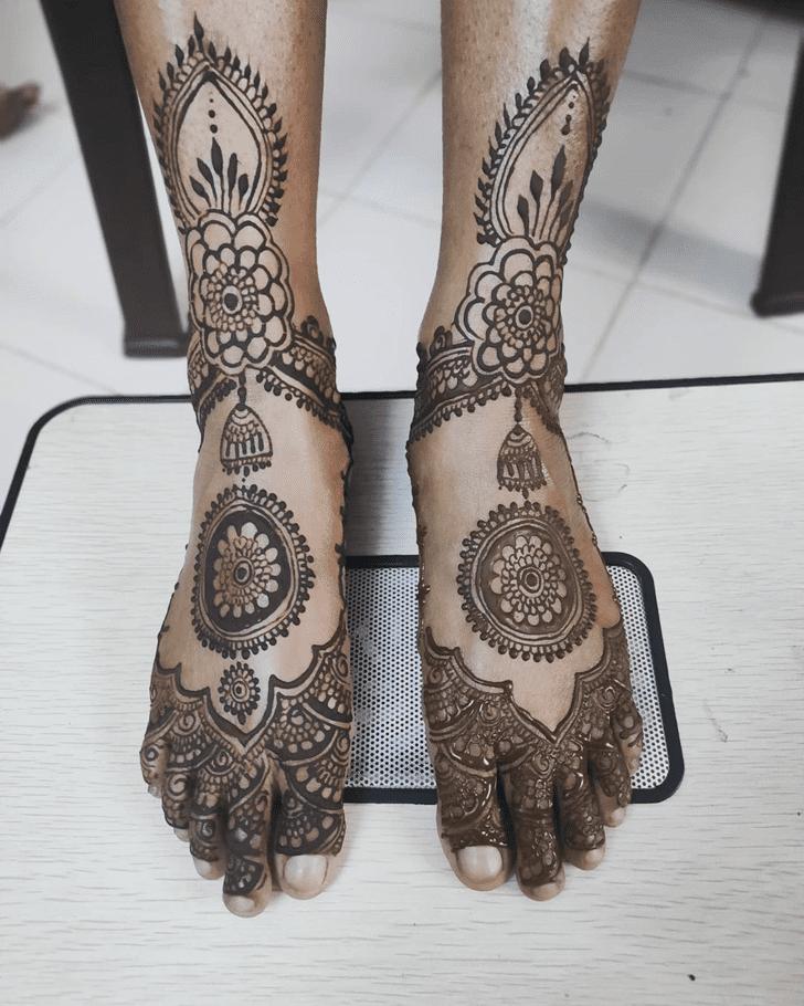 Best Leg Henna Design