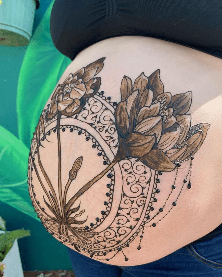 Alluring Lotus Henna Design