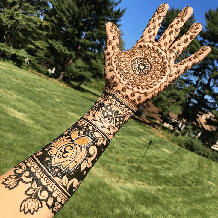 Angelic Lotus Henna Design
