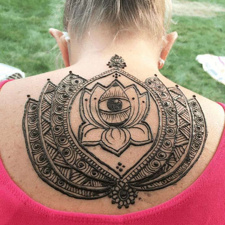 Appealing Lotus Henna Design