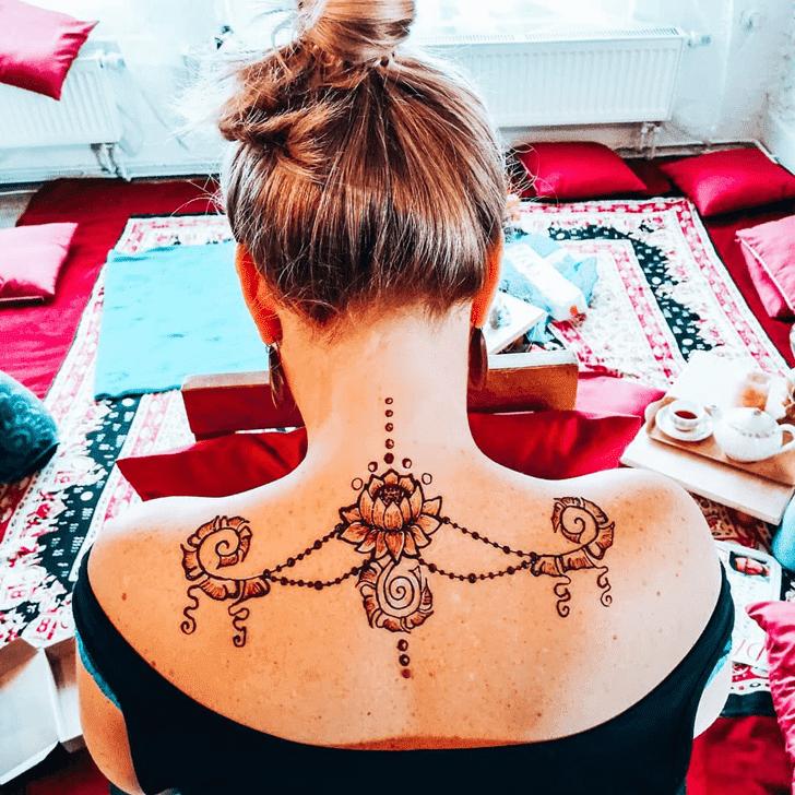 Beauteous Lotus Henna Design