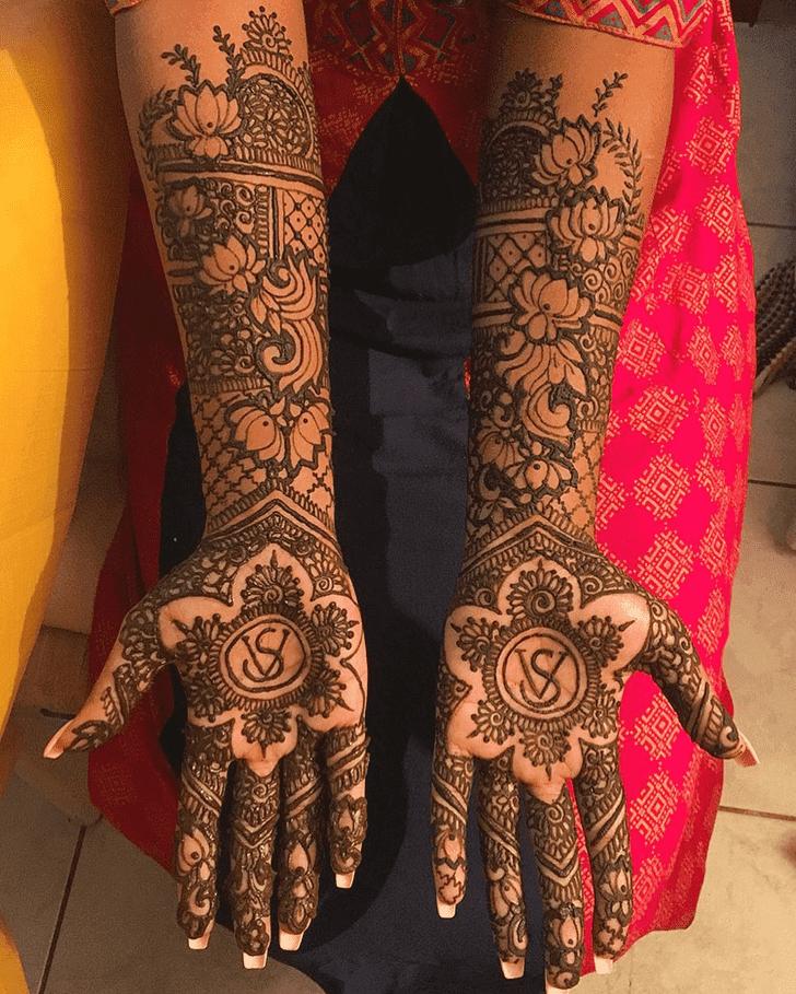 Bewitching Lotus Henna Design