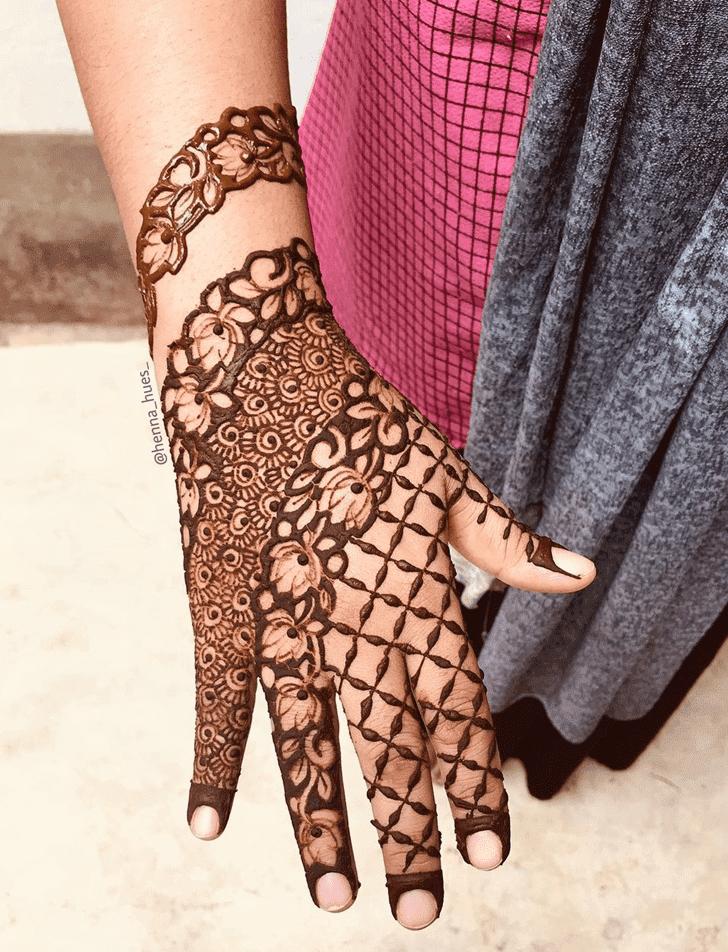 Captivating Lotus Henna Design