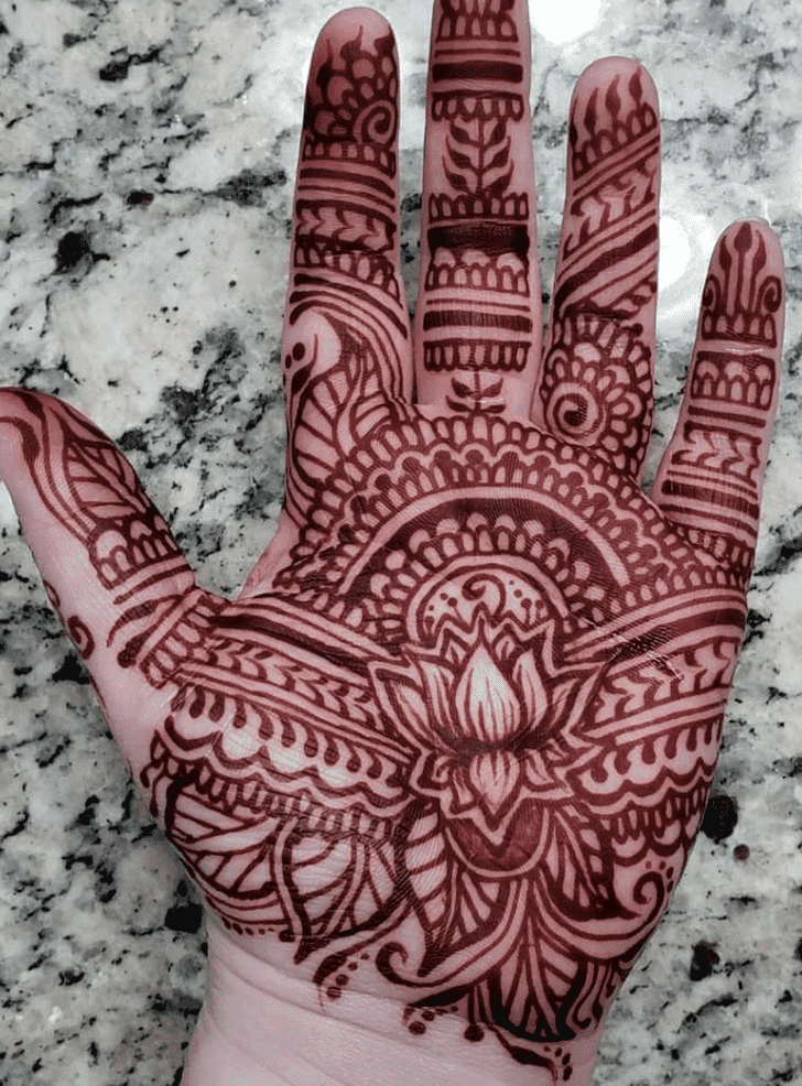Divine Lotus Henna Design