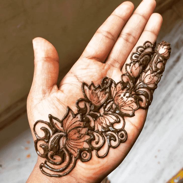 Elegant Lotus Henna Design