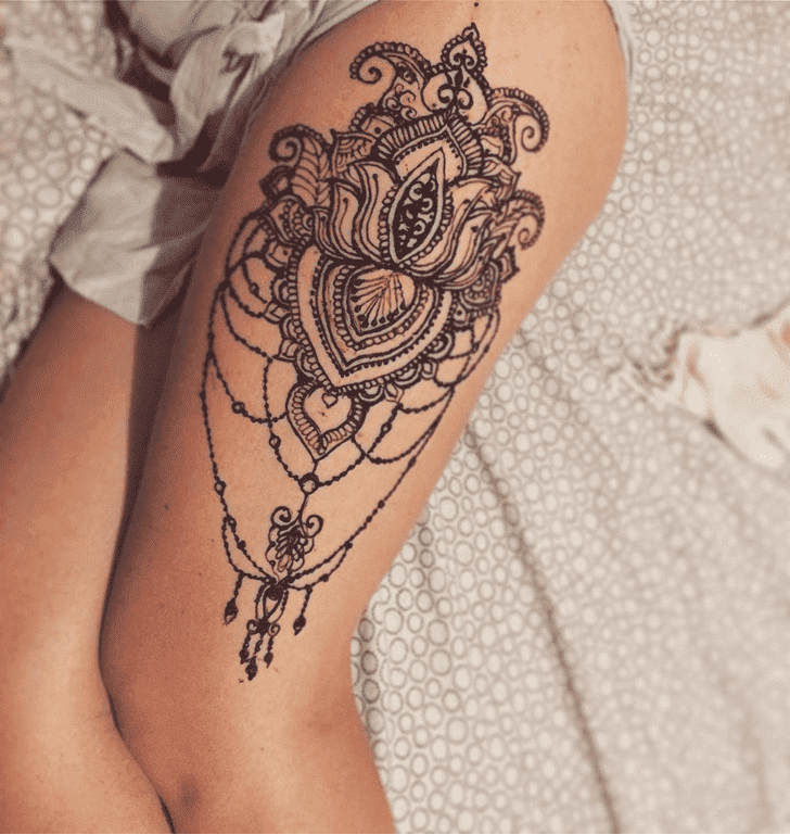 Enticing Lotus Henna Design