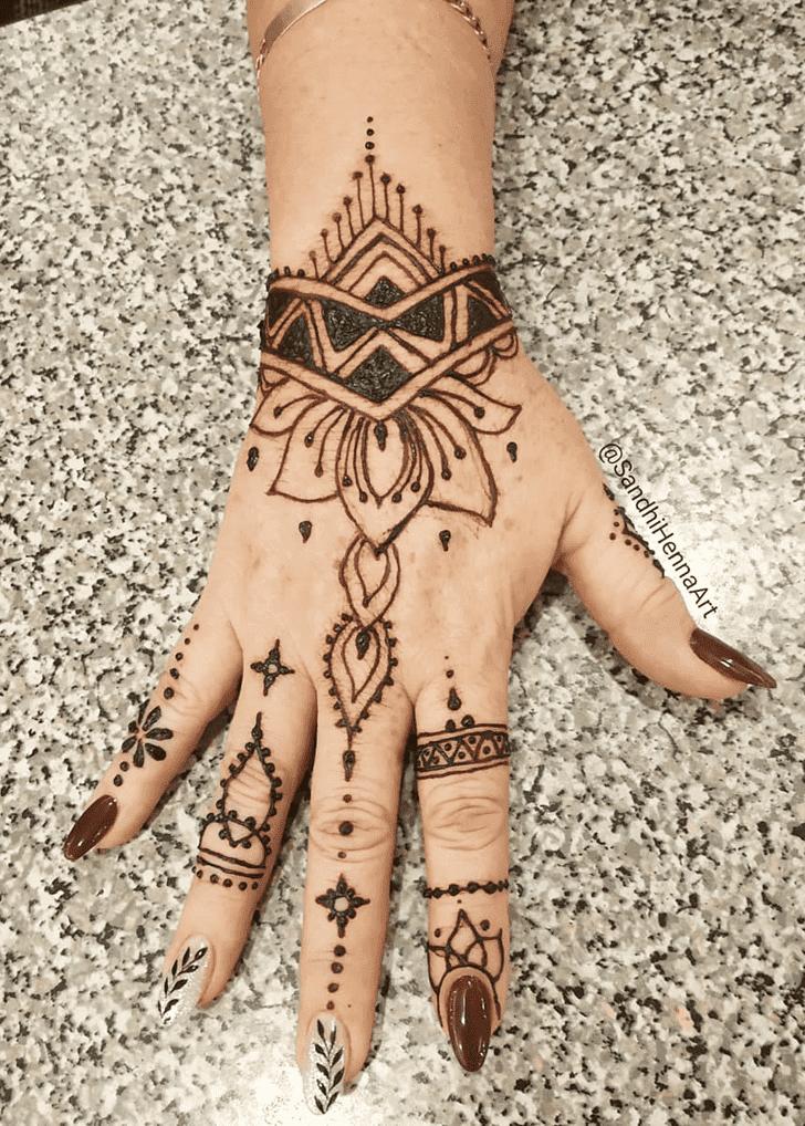 Handsome Lotus Mehndi Design