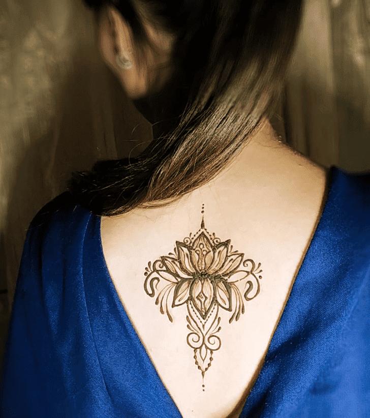 Magnetic Lotus Henna Design