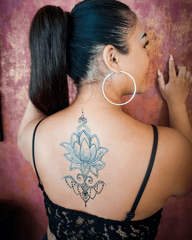 Nice Lotus Henna Design