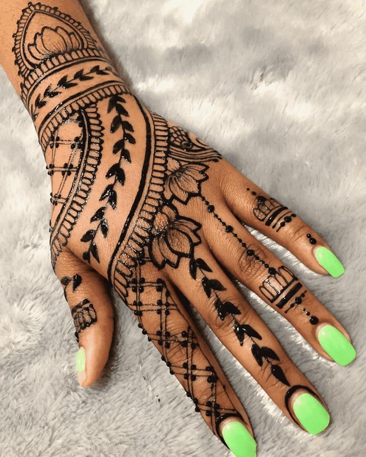 Pleasing Lotus Henna Design
