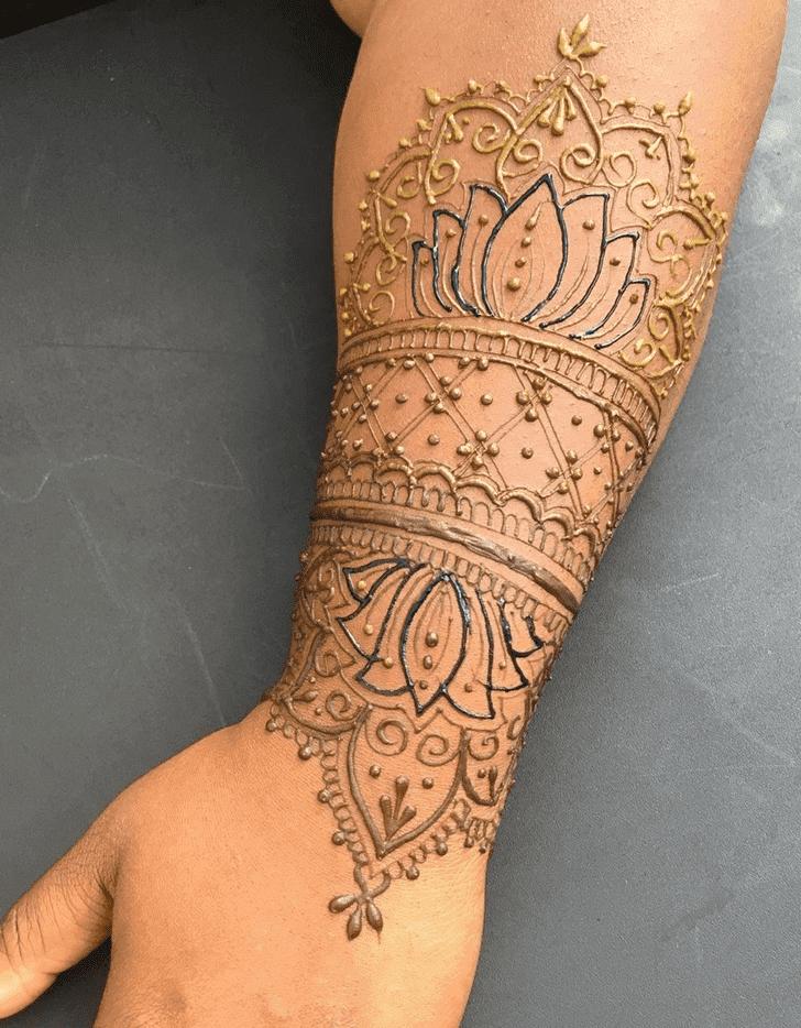 Ravishing Lotus Henna Design
