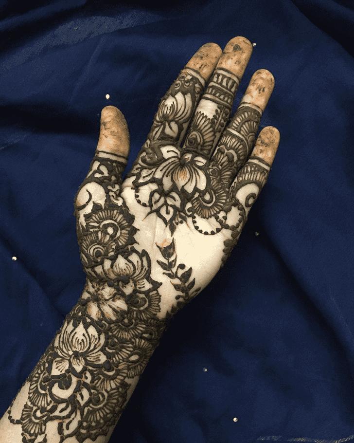 Resplendent Lotus Henna Design