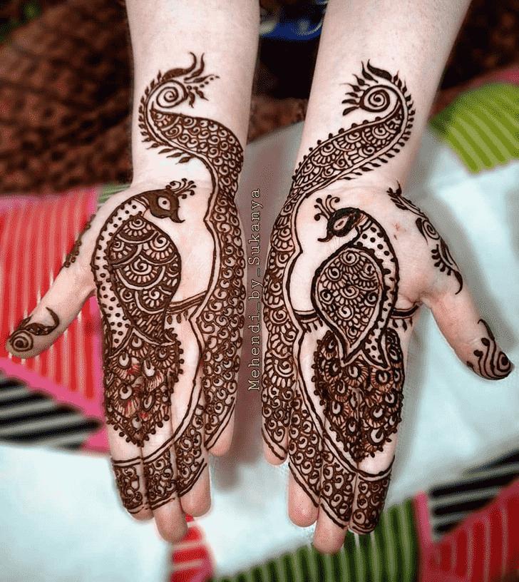 Magnetic Lovely Henna design