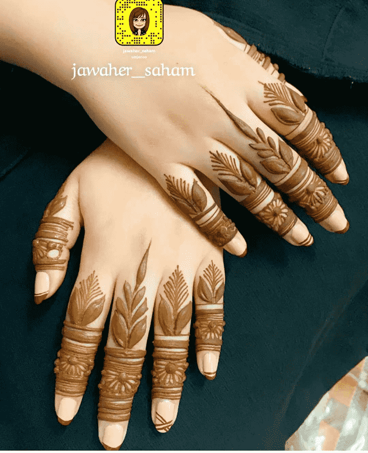 Wonderful Lovely Mehndi design