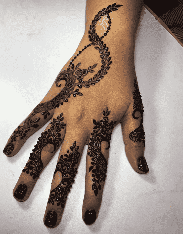 Captivating Lucknow Henna Design