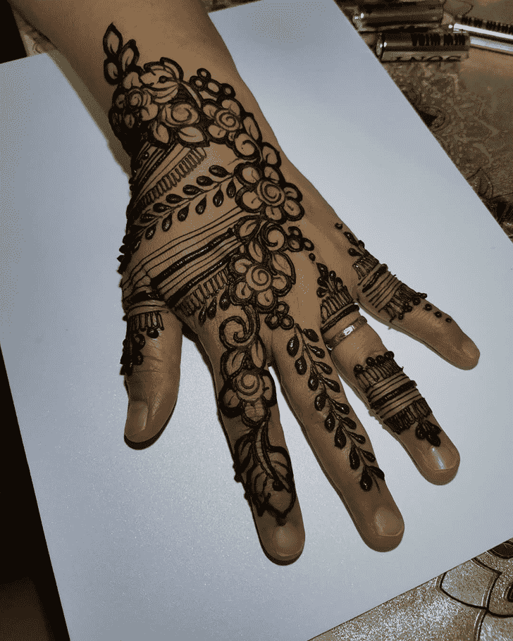 Admirable Male Mehndi Design