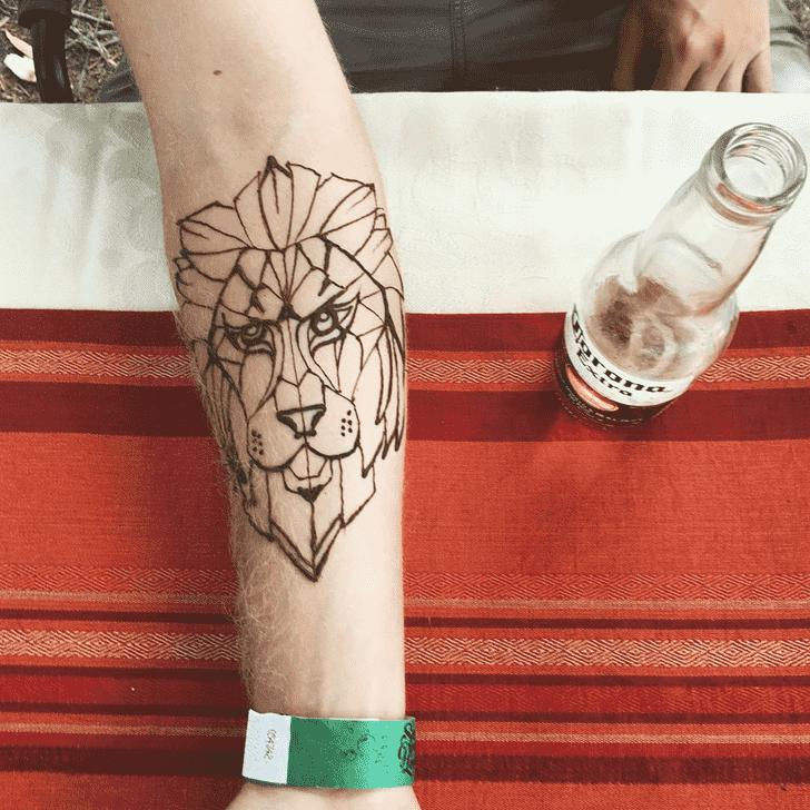 Alluring Male Henna Design