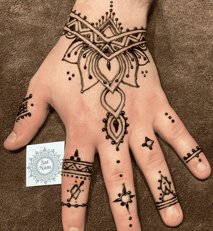 Appealing Male Henna Design