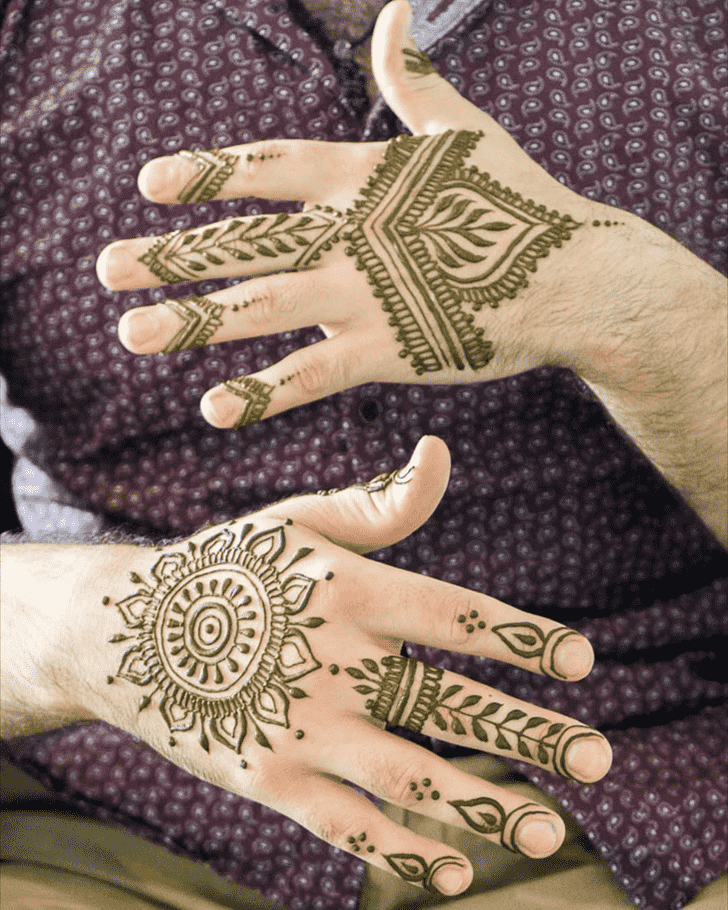 Bewitching Male Henna Design