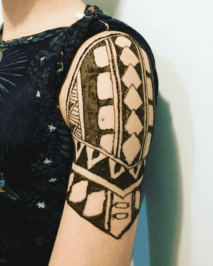 Captivating Male Henna Design