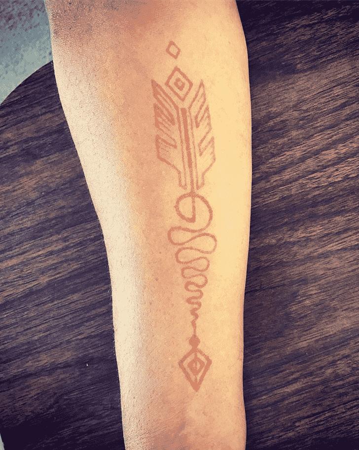 Angelic Man Henna Design