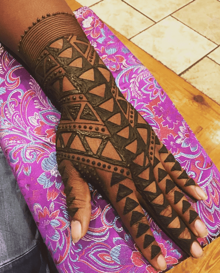 Captivating Man Henna Design