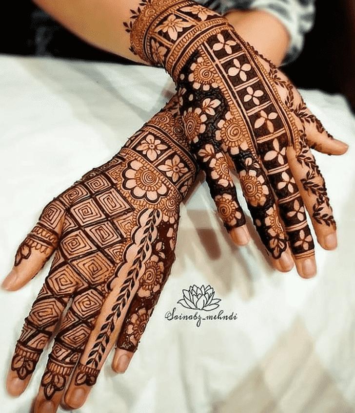 Appealing Mangalore Henna Design