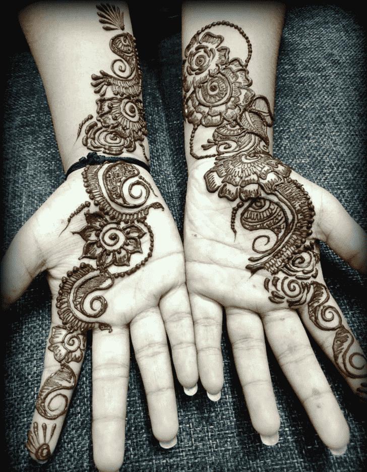 Bewitching Manipur Henna Design