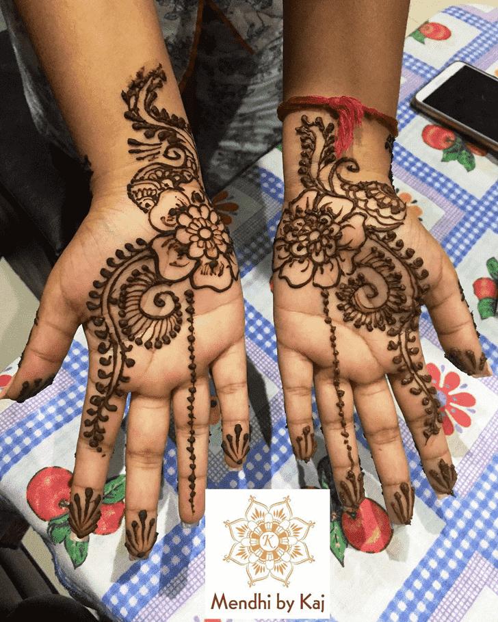 Delicate Manipur Henna Design