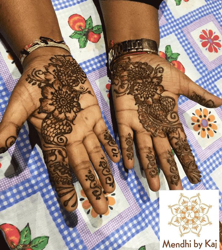 Delightful Manipur Henna Design