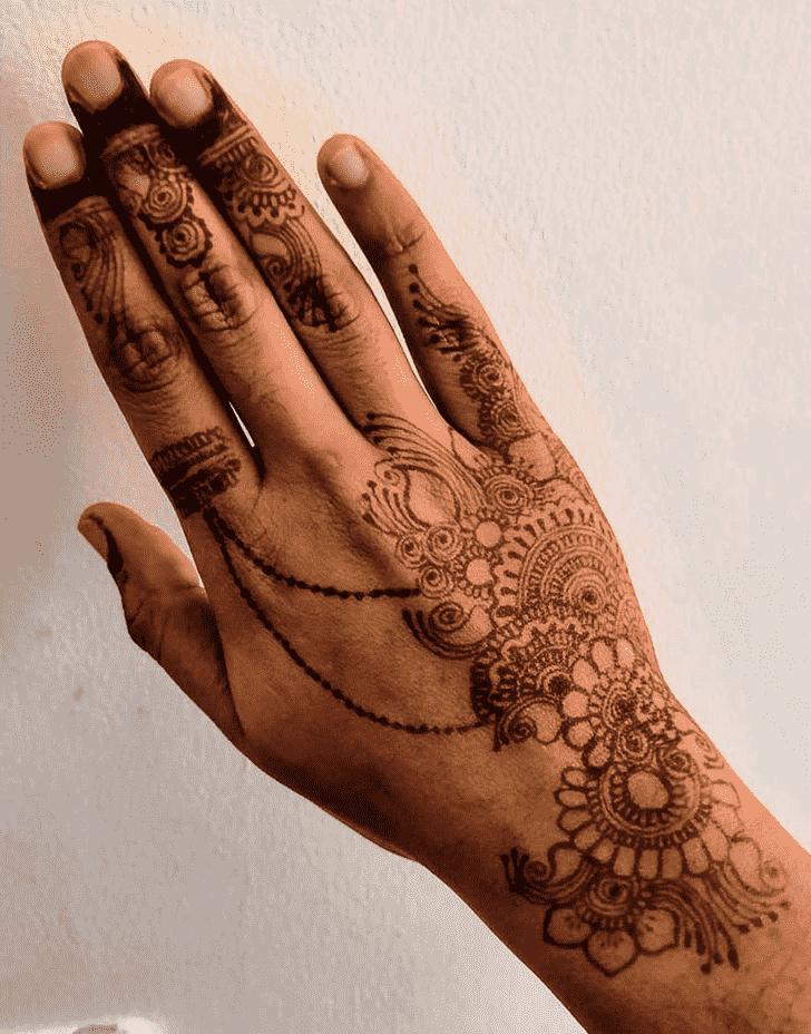 Arm Manipur Henna Design