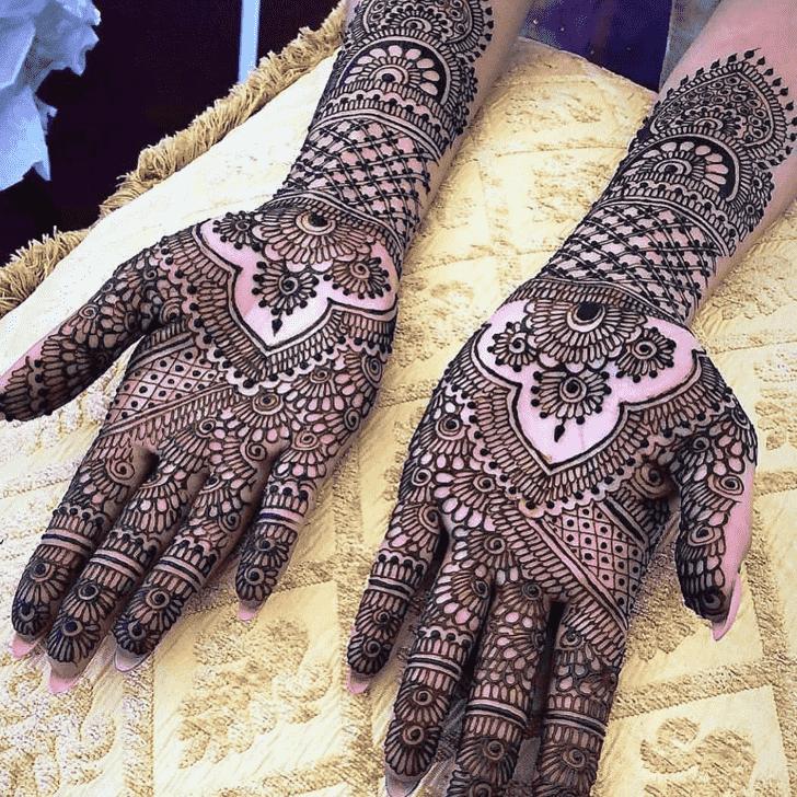 Fine Manipur Henna Design