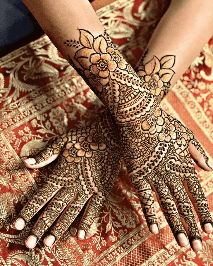 Inviting Manipur Henna Design