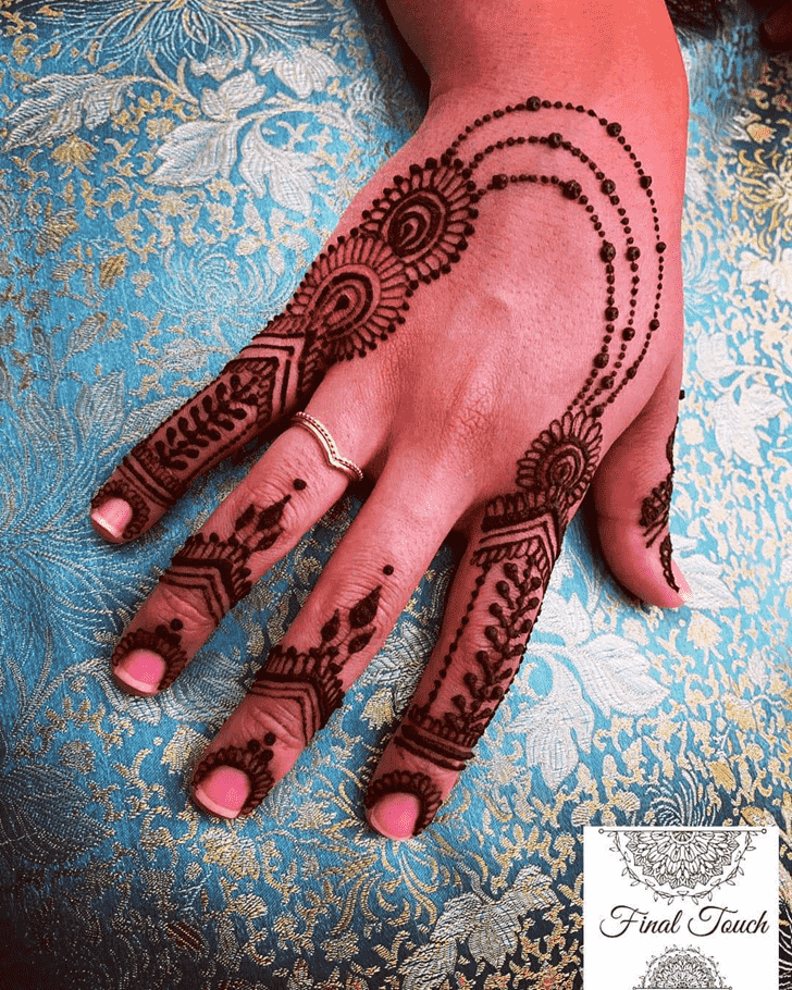 Pleasing Manipur Henna Design