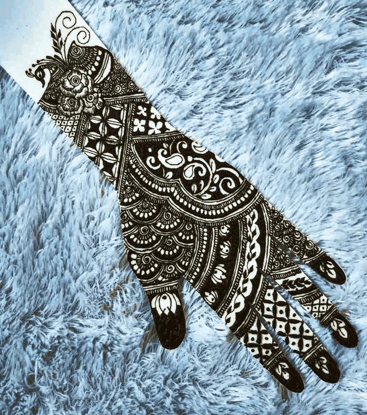 Refined Manipur Henna Design
