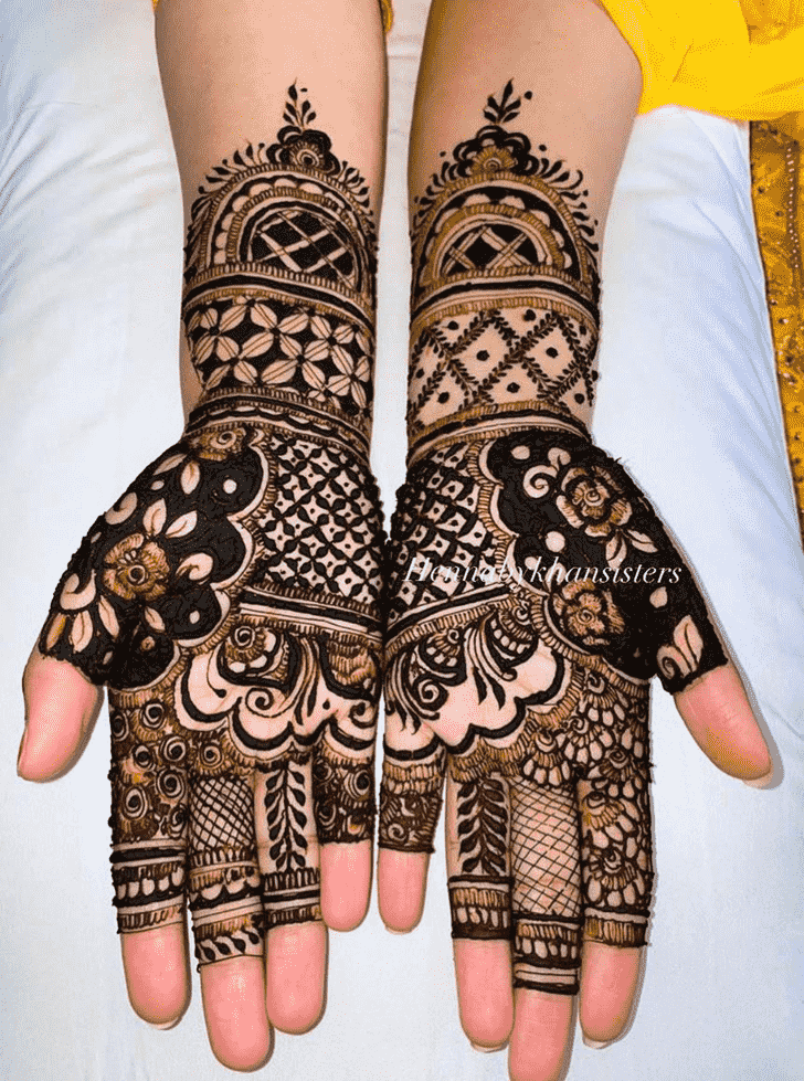 Charming Marwari Henna Design