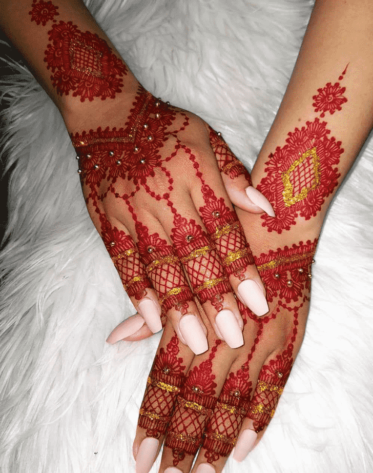 Delicate Massachusetts Henna Design
