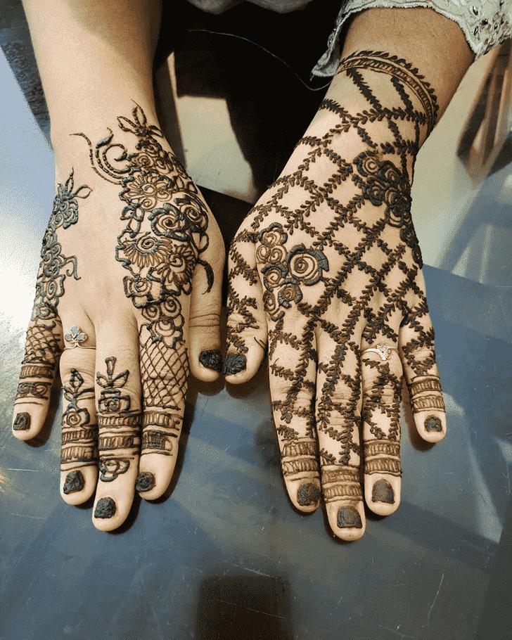 Elegant Massachusetts Henna Design