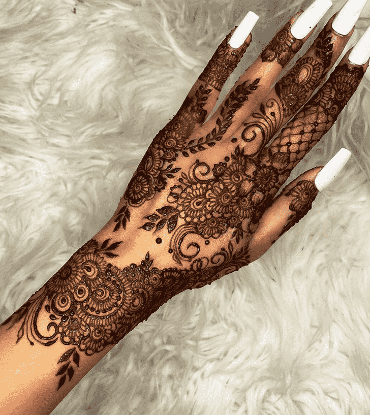 Pleasing Massachusetts Henna Design