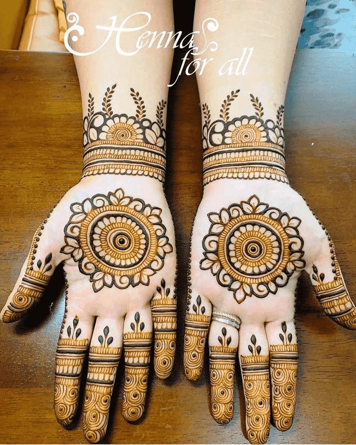 Refined Massachusetts Henna Design