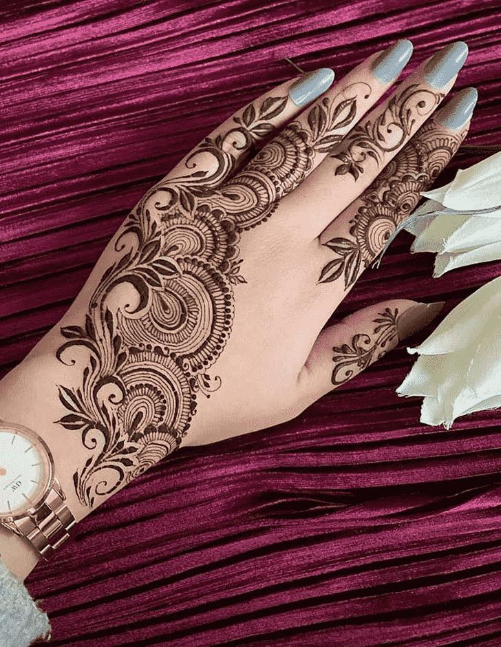 Angelic Meena Sankranti Henna Design
