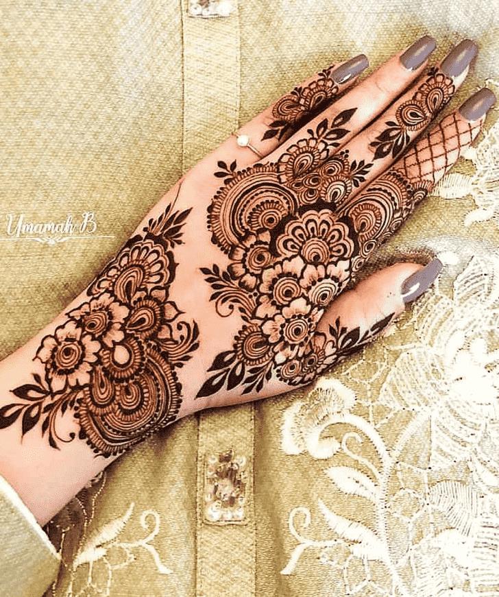 Appealing Meena Sankranti Henna Design