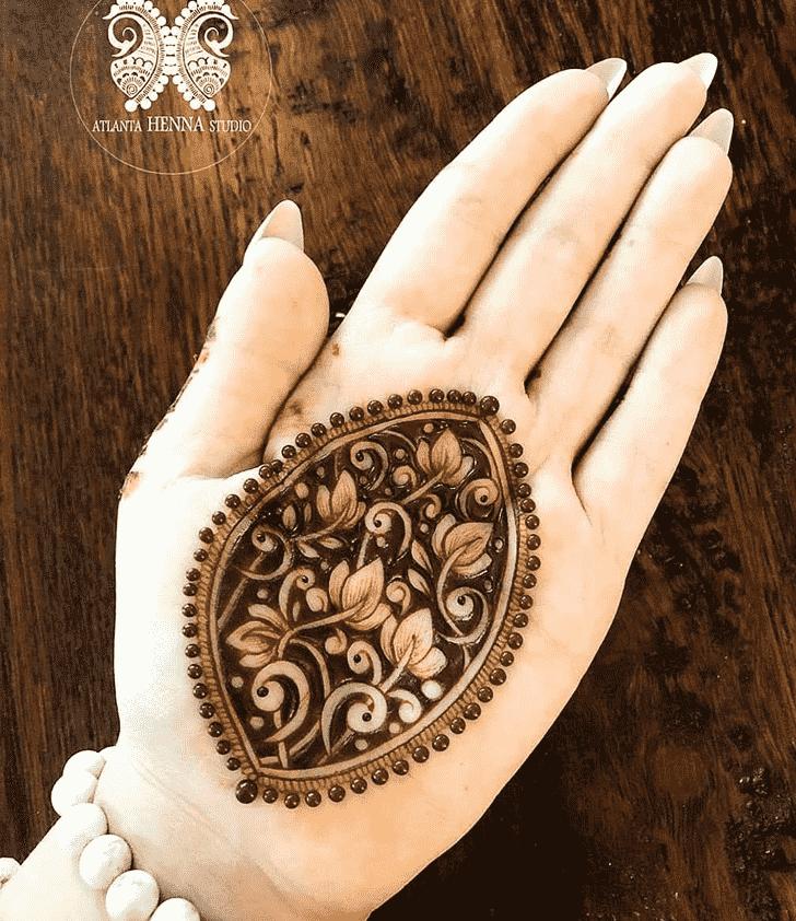 Beauteous Meena Sankranti Henna Design