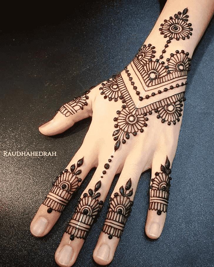 Classy Meena Sankranti Henna Design