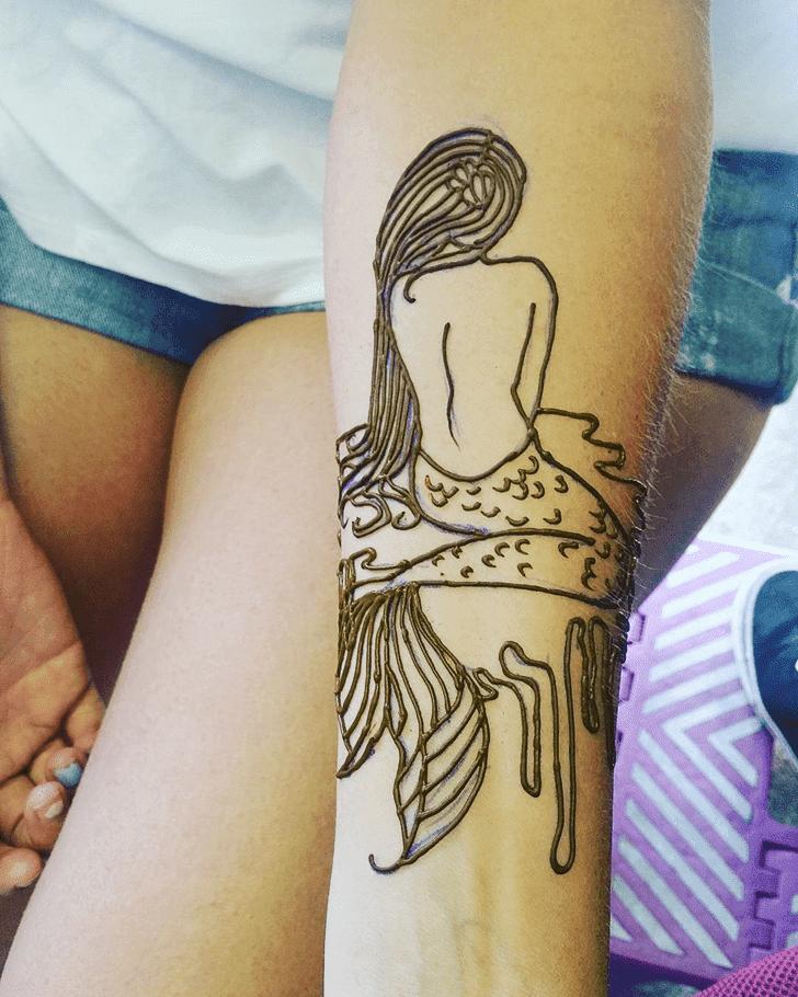 Adorable Mermaid Henna Design