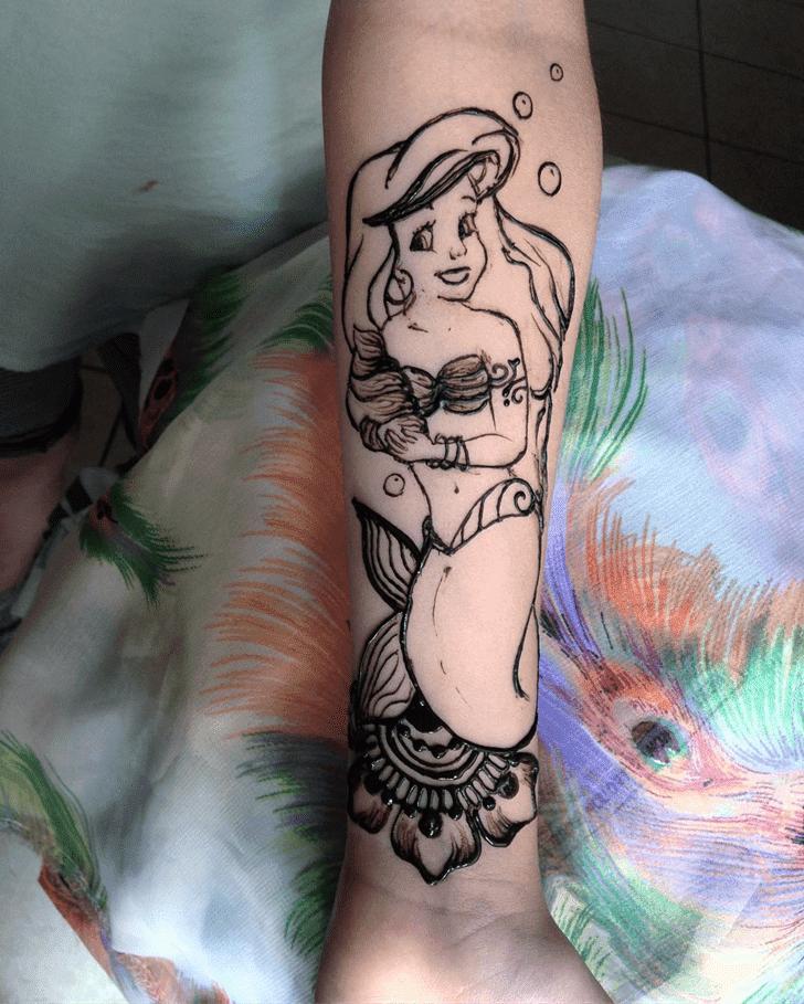 Alluring Mermaid Henna Design