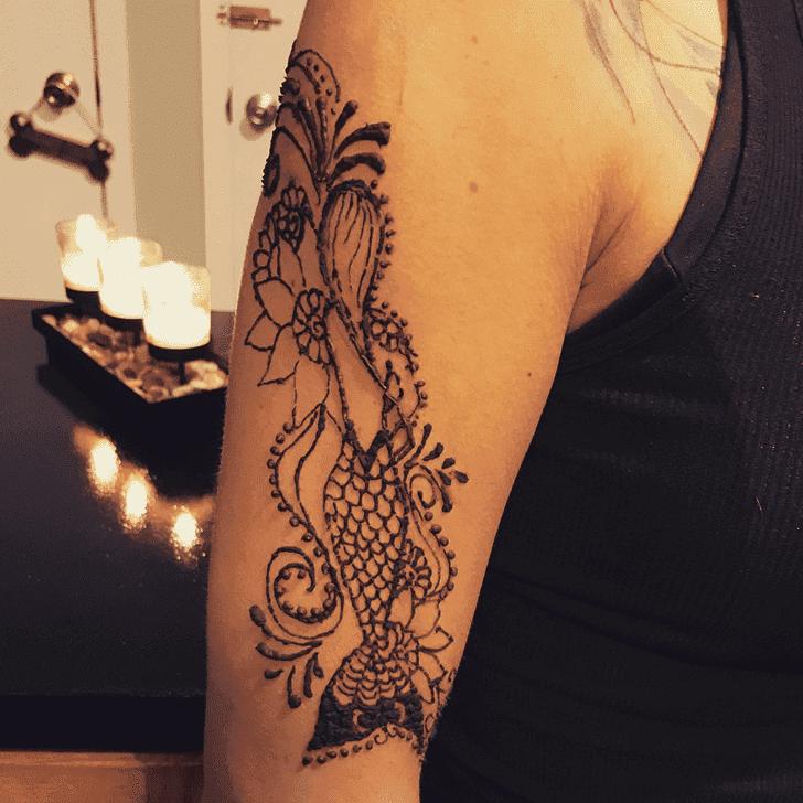 Angelic Mermaid Henna Design