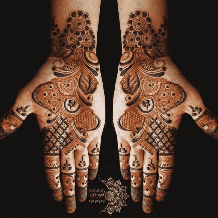 Angelic Mughlai Henna Design